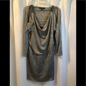 Silver grey heathered dress